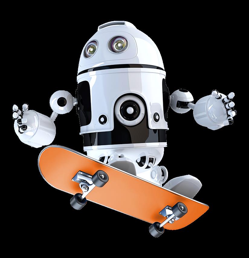 Skateboarding robot
